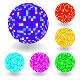 esferas brillantes del vector ilustración del vector