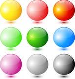 Esferas coloreadas del brillo ilustración del vector
