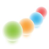 Esferas coloridas ilustração stock