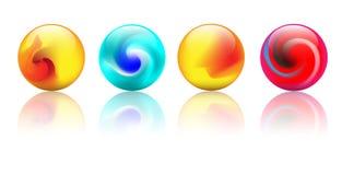 Esferas coloridas cristalinas del vector ilustración del vector