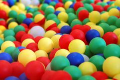Esferas coloridas da criança Imagem de Stock Royalty Free