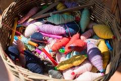 Esferas coloridas da linha Fotos de Stock