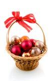 Esferas coloridas do Natal Foto de Stock Royalty Free