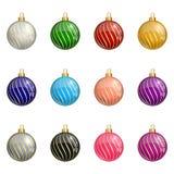 Esferas coloridas do Natal Imagem de Stock