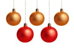 Esferas coloridas do Natal Fotos de Stock Royalty Free
