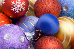 Esferas coloridas do Natal Imagens de Stock