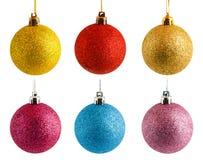 Esferas coloridas do Natal Fotografia de Stock Royalty Free