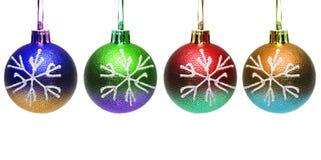 Esferas coloridas do Natal Fotos de Stock