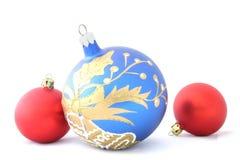 Esferas coloridas do Natal Fotografia de Stock