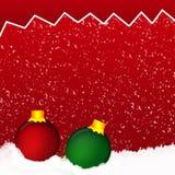 Esferas coloridas do Natal Grupo de decorações realísticas Fotografia de Stock