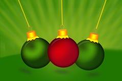 Esferas coloridas do Natal Grupo de decorações realísticas isoladas Fotografia de Stock