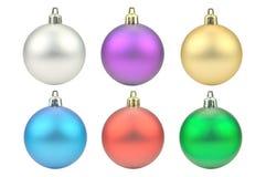 Esferas coloridas Natal Fotos de Stock Royalty Free