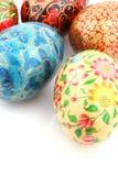 Esferas coloridas no fundo branco Imagens de Stock Royalty Free