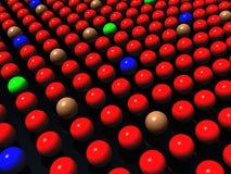 Esferas coloridas no fundo preto, diversidade ilustração do vetor