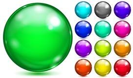 Esferas coloridos de várias cores saturadas ilustração do vetor