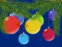 Esferas coloridos do Natal imagens de stock royalty free