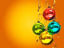Esferas coloridos do Natal Imagem de Stock Royalty Free