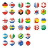 Esferas com bandeira Foto de Stock Royalty Free