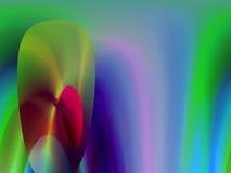 Esferas com fundo lisamente colorido Imagens de Stock