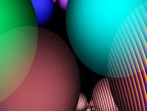 Esferas com linha testes padrões como o fundo Fotografia de Stock Royalty Free