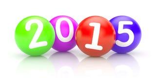 Esferas con los números 2015 Imagen de archivo
