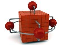 Esferas conectadas ilustração stock
