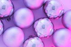 Esferas cor-de-rosa do Natal Fotografia de Stock Royalty Free