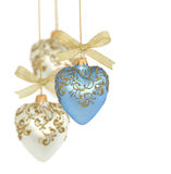 Esferas/corações do Natal Foto de Stock