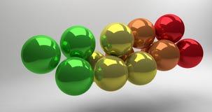 esferas 3d Fotos de archivo libres de regalías