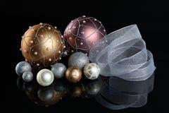 Esferas da árvore de Natal Imagens de Stock