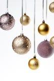 Esferas da árvore de Natal Foto de Stock Royalty Free