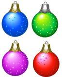 Esferas da árvore de Natal Ilustração do Vetor