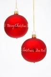 Esferas da árvore de Natal - Weihnachtskugeln fotografia de stock