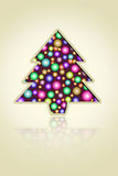 Esferas da árvore e da luz de Natal Fotos de Stock Royalty Free