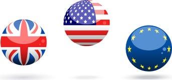 Esferas da bandeira Imagem de Stock