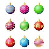 Esferas da decoração do Natal ilustração royalty free