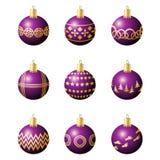 Esferas da decoração do Natal ilustração do vetor