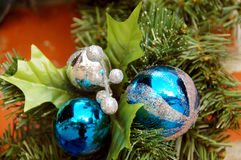 Esferas da decoração do Natal Fotografia de Stock Royalty Free