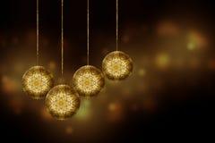 Esferas da decoração do Natal Imagens de Stock