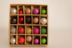 Esferas da decoração do Natal Imagem de Stock