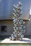 Esferas da escultura 80, artista indiano Anish Kapoor Fotos de Stock Royalty Free