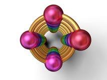 Esferas da espiral e da cor Imagem de Stock Royalty Free