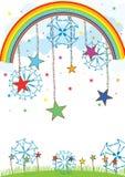 Esferas da estrela sobre o céu Imagem de Stock