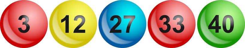 Esferas da lotaria ilustração royalty free