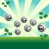 Esferas da lotaria Fotos de Stock