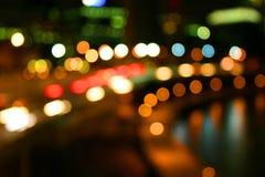 Esferas da luz da cidade Fotografia de Stock Royalty Free