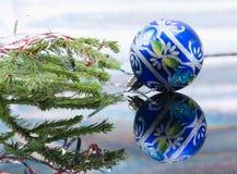 esferas da Natal-árvore. Fotos de Stock Royalty Free