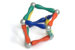 Esferas da pirâmide da cor Imagem de Stock Royalty Free
