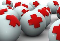 Esferas da saúde ilustração royalty free