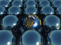 esferas da terra 3D Fotografia de Stock